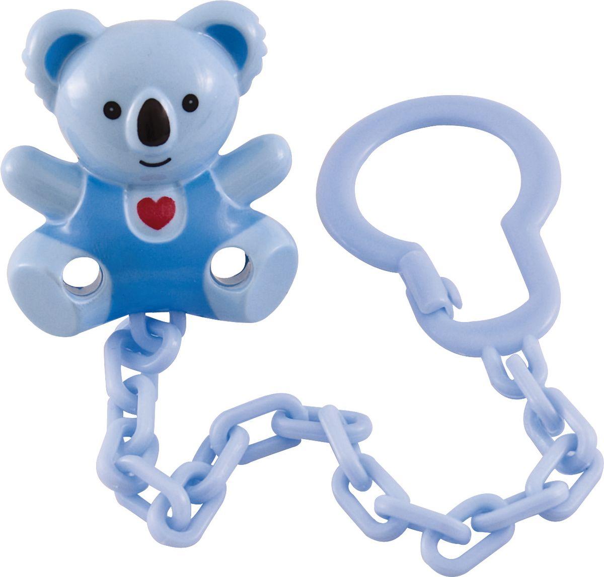 Canpol Babies Клипса-держатель для пустышки Медвежонок с сердечком цвет голубой