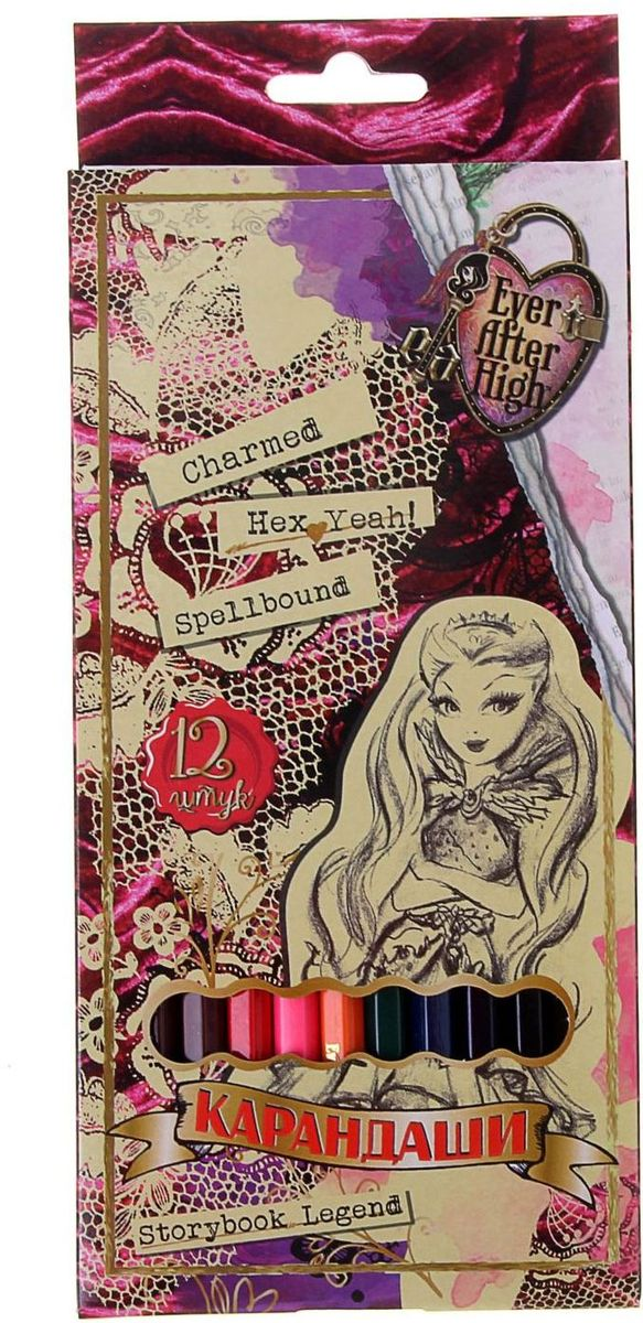 Ever After High Набор карандашей 12 цветов after skin shoes pointed bind zipper frosted leather high heels