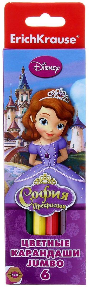 Disney Набор карандашей Принцесса София 6 цветов1127251Набор Disney Принцесса София состоит из 6 деревянных цветных карандашей, которые откроют юным художникам новые горизонты для творчества, а также помогут отлично развить мелкую моторику рук, фантазию и воображение.
