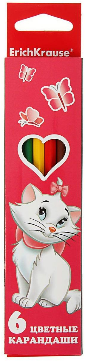 Disney Набор карандашей Cat Marie 6 цветов1380980Набор Disney Cat Marie состоит из 6 деревянных цветных карандашей, которые откроют юным художникам новые горизонты для творчества, а также помогут отлично развить мелкую моторику рук, фантазию и воображение.
