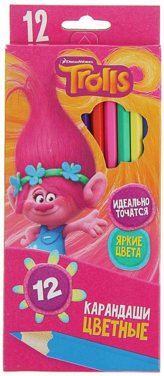 Trolls Набор карандашей 12 цветов trolls набор фломастеров 6 цветов