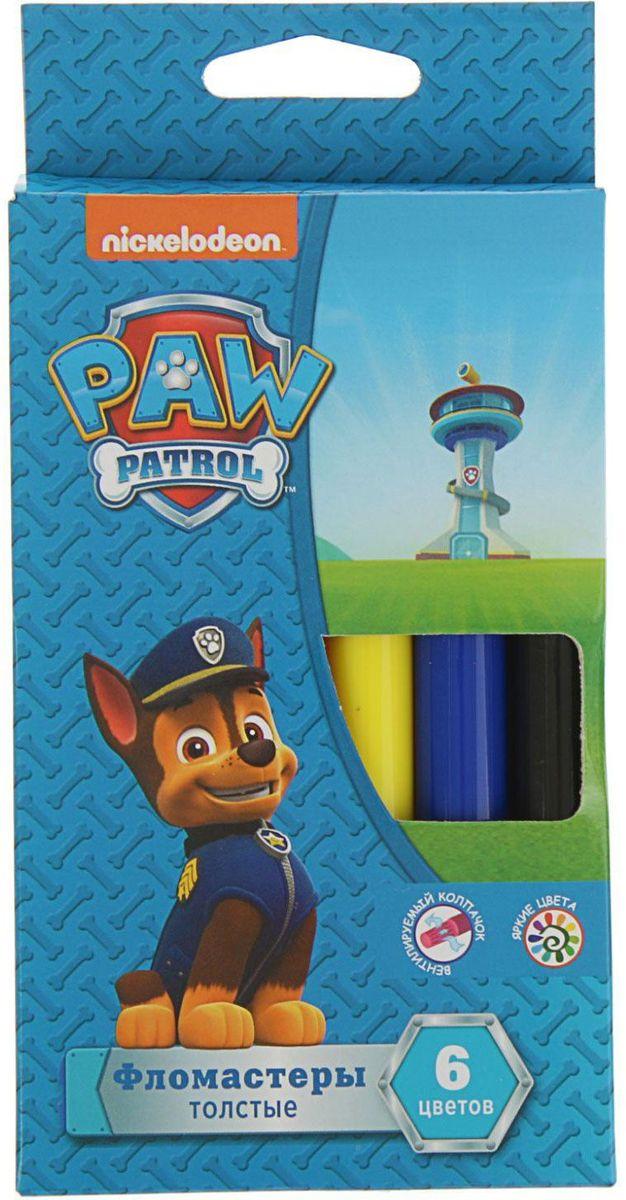 Paw Patrol Набор толстых фломастеров 6 цветов -  Фломастеры
