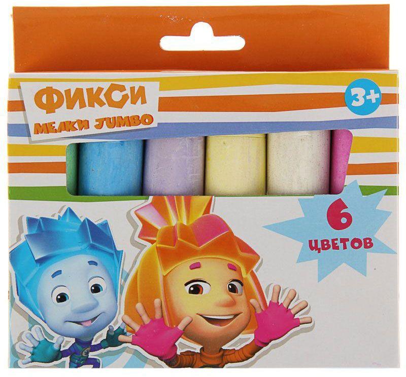 Фиксики Мелки 6 цветов606873Набор цветных мелков поможет детям создавать яркие большие картины на асфальте и других шероховатых поверхностях, развивая их творческие способности, воображение, цветовосприятие и моторику рук. В набор входит 6 разноцветных мелков с удобным квадратным сечением. Мелки имеют яркие цвета, прочны, устойчивы к стиранию.