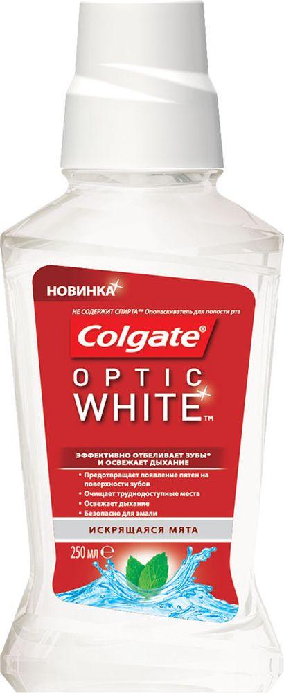 Colgate Ополаскиватель для полости рта Optic White, отбеливающий, 250 мл listerine expert ополаскиватель для полости рта защита десен 250 мл