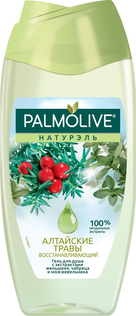 """Palmolive Гель для душа Натурэль """"Алтайские Травы"""", с экстрактом женьшеня, чабреца и можжевельника, 250 мл"""