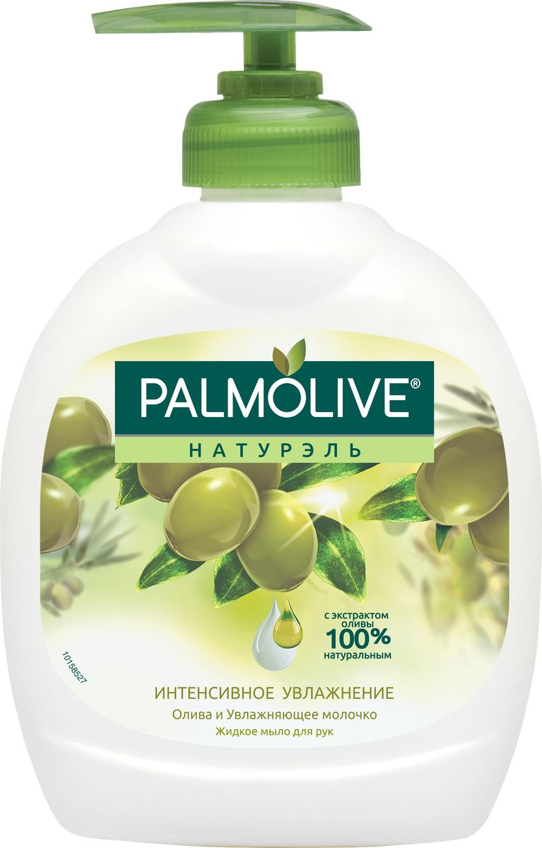 Palmolive Жидкое мыло для рук Натурэль Интенсивное Увлажнение, олива и увлажняющее молочко, 300 мл phytosolba phyto huile шелковое молочко интенсивное увлажнение 100 мл