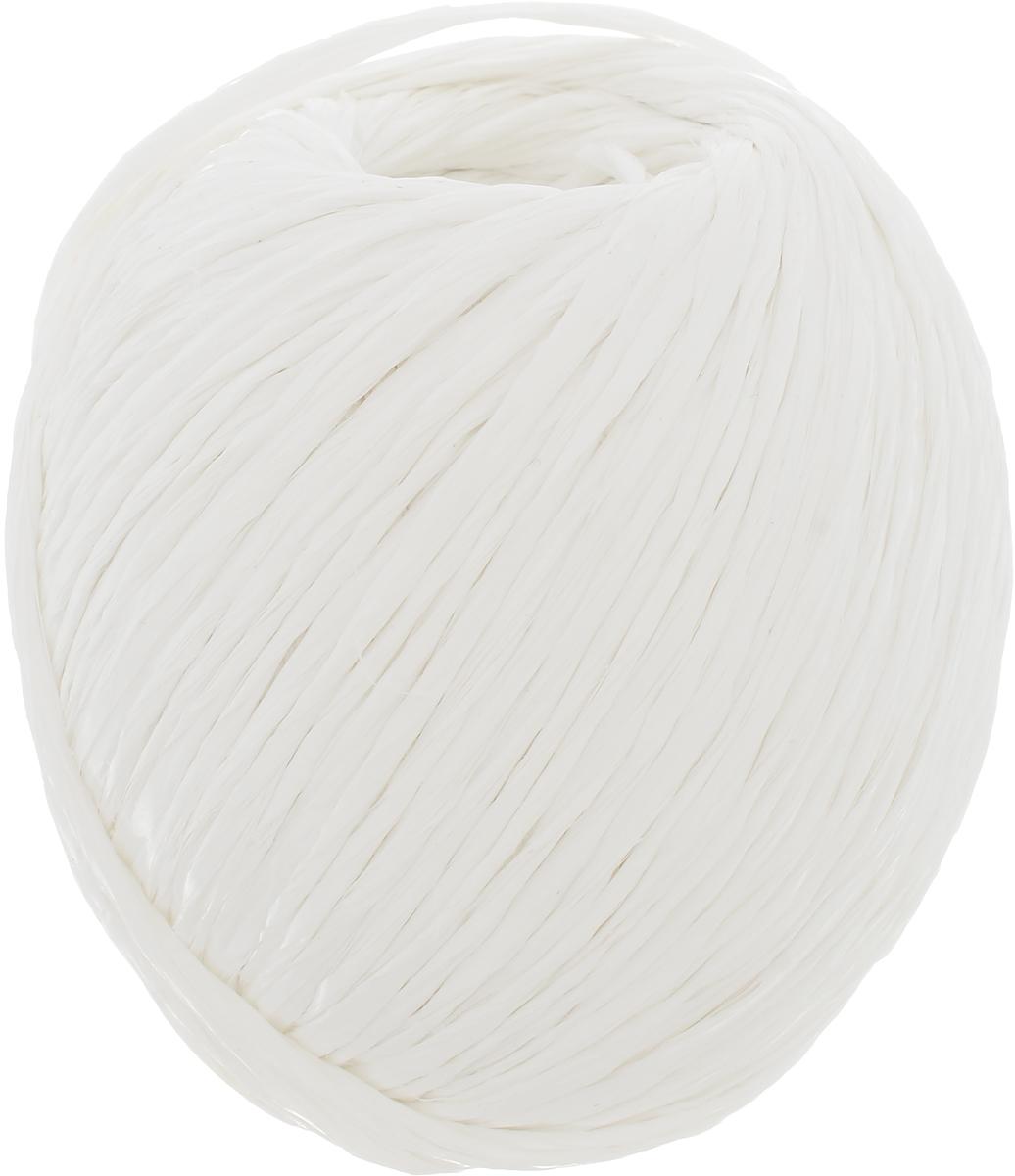 Шпагат Шнурком, цвет: белый, длина 100 мШпп_100Полипропиленовый шпагат Шнурком плотностью 1000 текс входит в категорию веревочной продукции, сырьем для которой являются синтетические волокна, в частности полипропиленовая нить. Данный материал характеризуется высокой прочностью и стойкостью к износу. Кроме того, он эластичен, гибок, не боится многократных изгибов, плотно облегает изделие при обвязке и легко завязывается в крепкие узлы.Относительная удельная плотность полипропиленовых шпагатов варьируется от 0,70 до 0,91 кг/м3.Температура плавления от 150 до 170°C (в зависимости от вида и модели шпагата).Удлинение под предельной нагрузкой (18-20%). Длина шпагата: 100 м.Толщина нити: 2 мм.Линейная плотность шпагата: 1000 текс.
