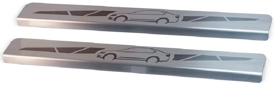 Накладки на пороги Автоброня, для Lada 4x4 3-дверная 1995-, 2 штNPLA4x43011Накладки на пороги Автоброня создают индивидуальный интерьер автомобиля и защищают лакокрасочное покрытие от механических повреждений.Особенности:- Использование высококачественной итальянской нержавеющей стали AISI 304 (толщина 0,5 мм).- Надежная фиксация на автомобиле с помощью скотча 3М серии VHB.- Устойчивое к истиранию изображение на накладках нанесено методом абразивной полировки.- Идеально повторяют геометрию порогов автомобиля.- Легкая и быстрая установка.В комплект входят 2 накладки.