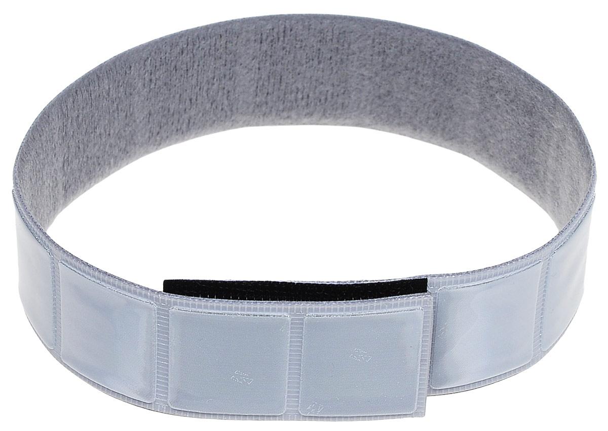 """Фликер """"Salzmann"""" выполнен из светоотражающего  материала 3M Scotchlite. Благодаря возможности регулировки,   изделие крепится на запястье, плечо или ногу при помощи   специальной застежки-липучки Velcro. Отражающее значение: 700 lux.Размер фликера: 38 х 3 см.  Гид по велоаксессуарам. Статья OZON Гид"""