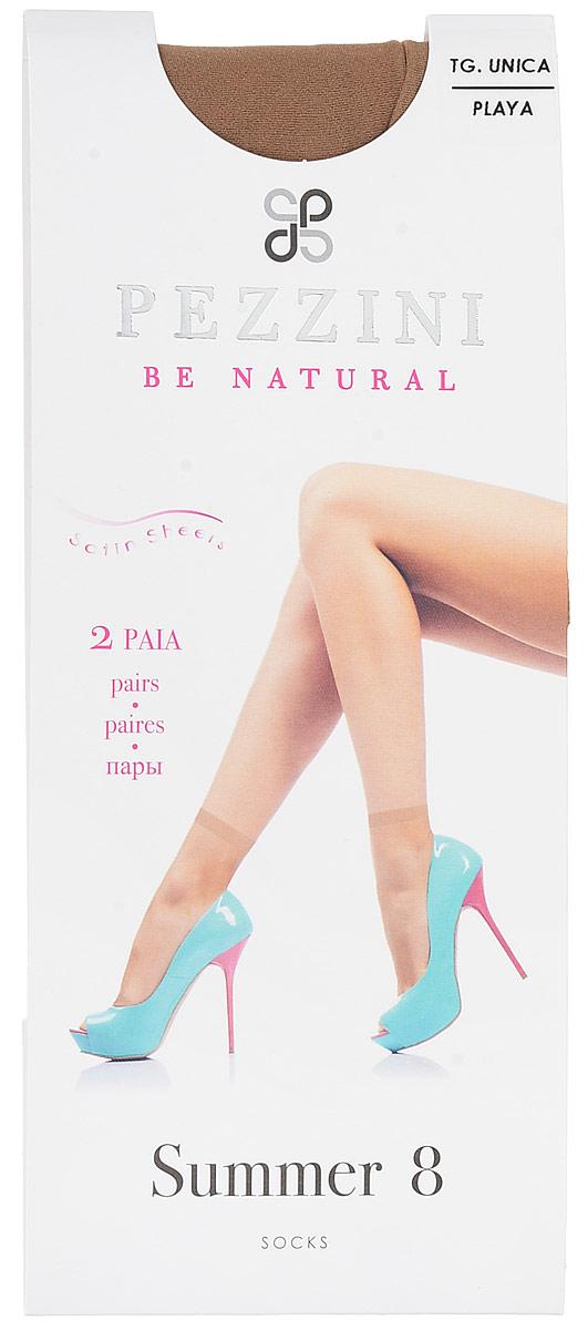 Носки женские Pezzini Summer 8, цвет: Playa (телесный), 2 пары. Su8-pl-un. Размер универсальный pezzini носки