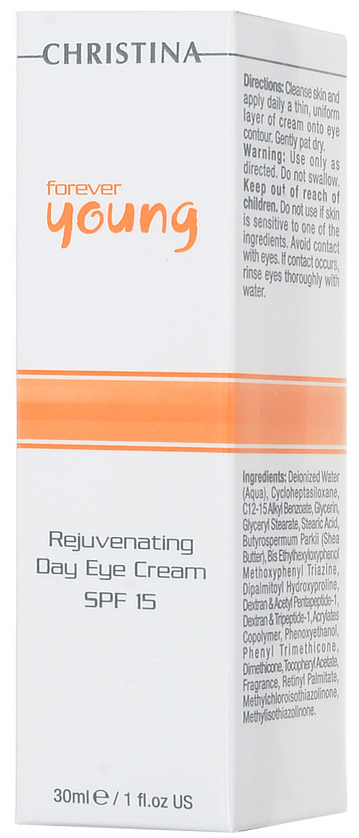 Christina Омолаживающий дневной крем для зоны глаз Forever Young Rejuvenating Day Eye Cream SPF15 30 мл дневной уход christina step 8b ultimate defense tinted day cream spf20