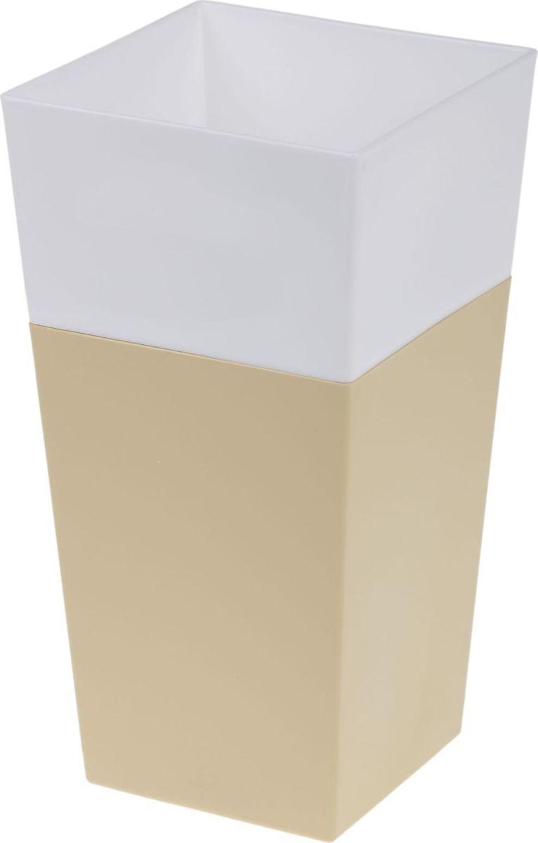 Кашпо JetPlast Дуэт, цвет: кремовый, белый, высота 26 см4612754052080Любой, даже самый современный и продуманный интерьер будет не завершенным без растений. Они не только очищают воздух и насыщают его кислородом, но и заметно украшают окружающее пространство. Такому полезному члену семьи просто необходимо красивое и функциональное кашпо, оригинальный горшок или необычная ваза! Мы предлагаем - Кашпо 1,8 л Дуэт, цвет кремово-белый! Оптимальный выбор материала - это пластмасса! Почему мы так считаем? Малый вес. С легкостью переносите горшки и кашпо с места на место, ставьте их на столики или полки, подвешивайте под потолок, не беспокоясь о нагрузке. Простота ухода. Пластиковые изделия не нуждаются в специальных условиях хранения. Их легко чистить достаточно просто сполоснуть теплой водой. Никаких царапин. Пластиковые кашпо не царапают и не загрязняют поверхности, на которых стоят. Пластик дольше хранит влагу, а значит растение реже нуждается в поливе. Пластмасса не пропускает воздух корневой системе растения не грозят резкие перепады температур. Огромный выбор форм, декора и расцветок вы без труда подберете что-то, что идеально впишется в уже существующий интерьер. Соблюдая нехитрые правила ухода, вы можете заметно продлить срок службы горшков, вазонов и кашпо из пластика: всегда учитывайте размер кроны и корневой системы растения (при разрастании большое растение способно повредить маленький горшок) берегите изделие от воздействия прямых солнечных лучей, чтобы кашпо и горшки не выцветали держите кашпо и горшки из пластика подальше от нагревающихся поверхностей. Создавайте прекрасные цветочные композиции, выращивайте рассаду или необычные растения, а низкие цены позволят вам не ограничивать себя в выборе.