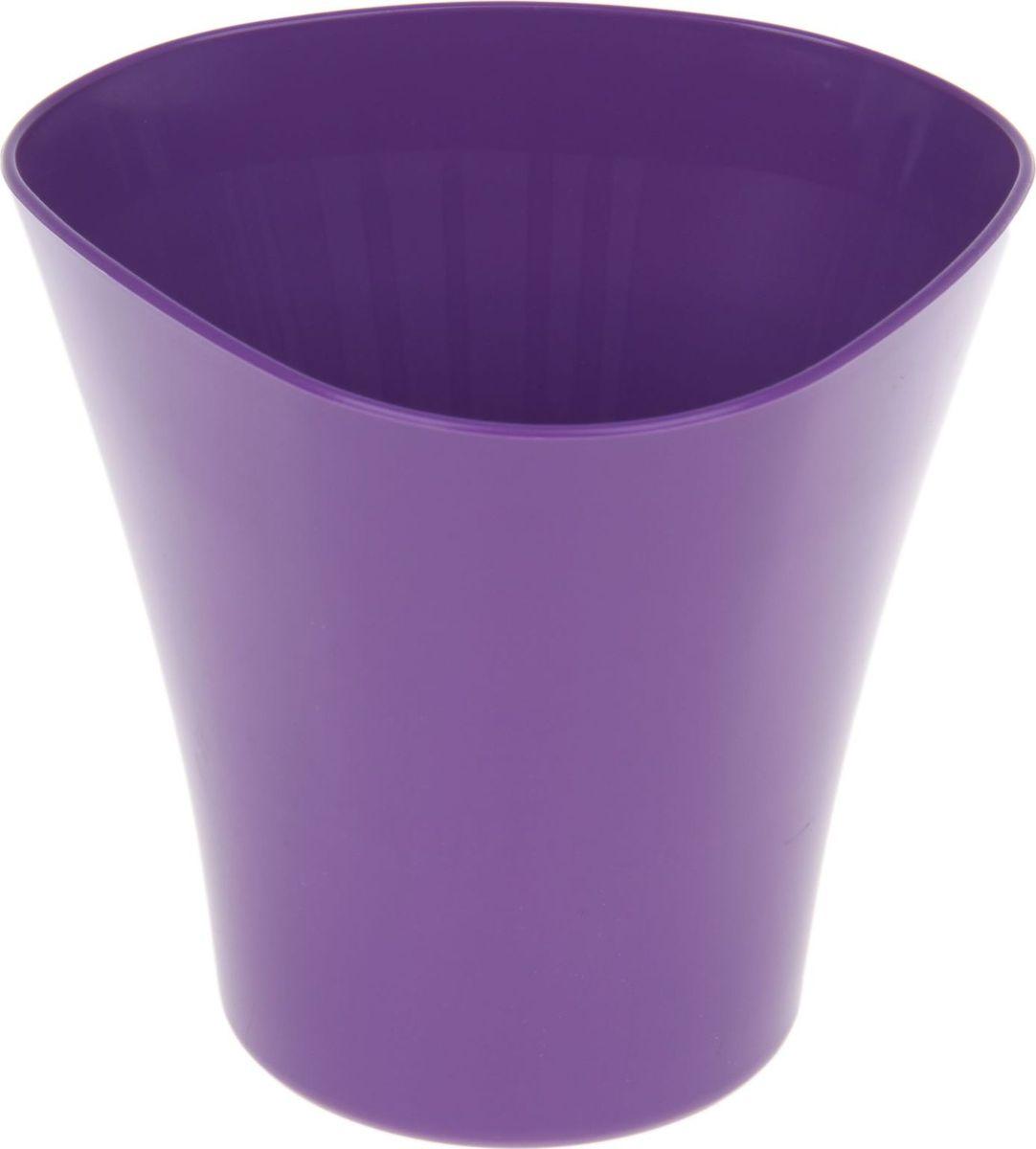 Кашпо JetPlast Волна, цвет: фиолетовый, 1,5 л4612754051298Кашпо Волна имеет уникальную форму, сочетающуюся как с классическим, так и с современным дизайном интерьера. Оно изготовлено из прочного полипропилена (пластика) и предназначено для выращивания растений, цветов и трав в домашних условиях. Такое кашпо порадует вас функциональностью, а благодаря лаконичному дизайну впишется в любой интерьер помещения. Объем кашпо: 1,5 л.