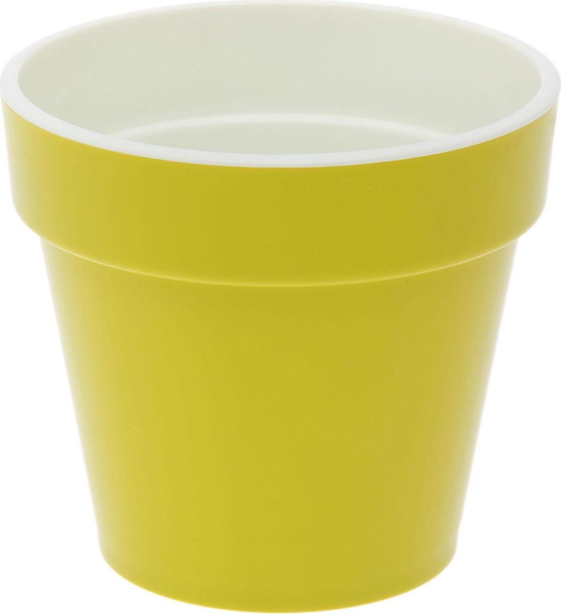 Кашпо JetPlast Порто, со вставкой, цвет: фисташковый, 1 л4612754052448Кашпо Порто классической формы с внутренней вставкой-горшком. Дренажная вставка позволяет легко поливать растения без использования дополнительного поддона. Вместительный объем кашпо позволяет высаживать самые разнообразные растения, а съемная вставка избавит вас от грязи и подчеркнет красоту цветка. Оно изготовлено из прочного полипропилена (пластика). Такое кашпо порадует вас функциональностью, а благодаря лаконичному дизайну впишется в любой интерьер помещения. Объем кашпо: 1 л.