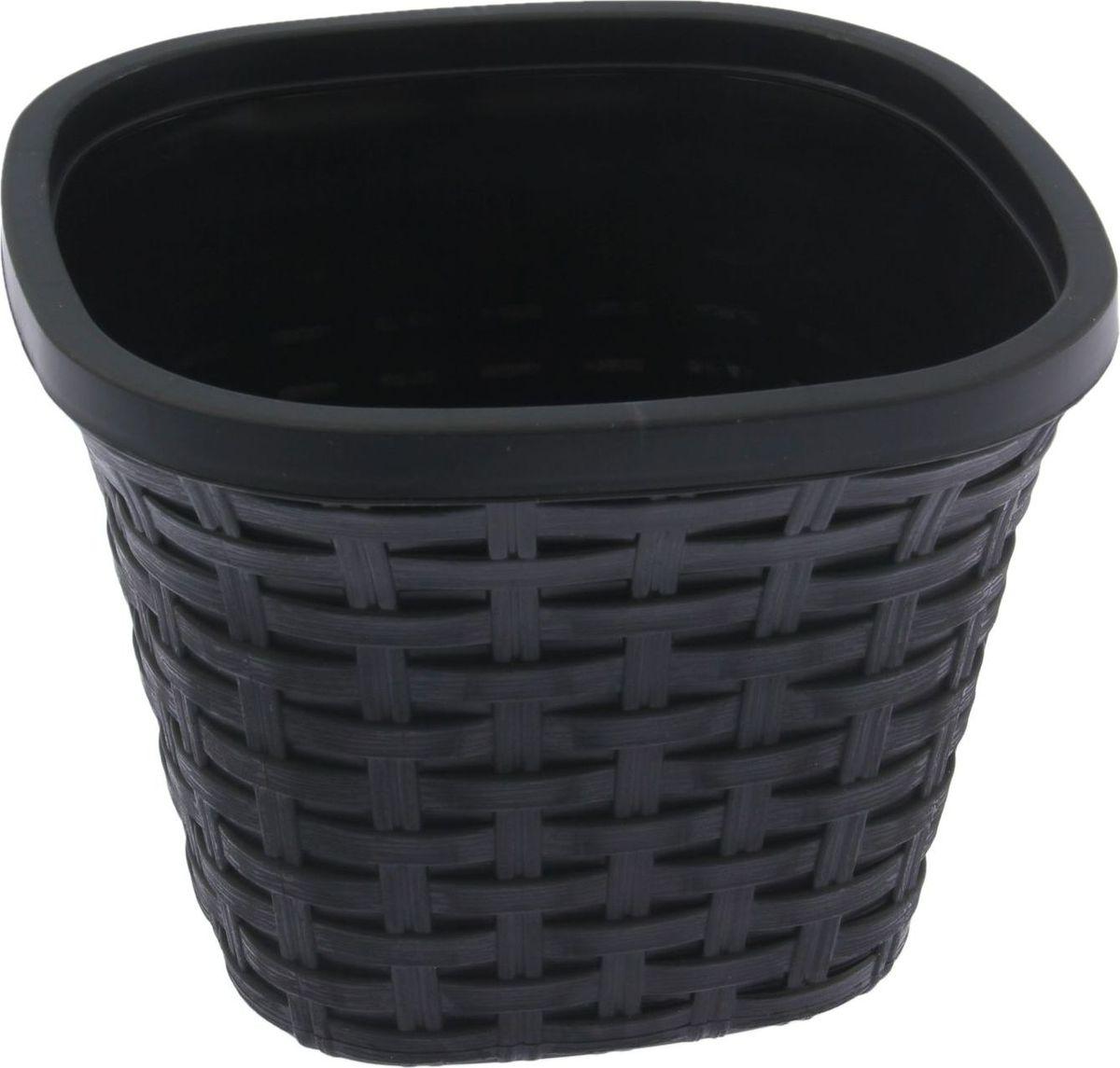 Кашпо квадратное Violet Ротанг, с дренажной системой, цвет: черный, 2,6 л33260/7Любой, даже самый современный и продуманный интерьер будет незавершённым без растений. Они не только очищают воздух и насыщают его кислородом, но и украшают окружающее пространство. Такому полезному члену семьи просто необходим красивый и функциональный дом! Мы предлагаем #name#! Оптимальный выбор материала — пластмасса! Почему мы так считаем?Малый вес. С лёгкостью переносите горшки и кашпо с места на место, ставьте их на столики или полки, не беспокоясь о нагрузке. Простота ухода. Кашпо не нуждается в специальных условиях хранения. Его легко чистить — достаточно просто сполоснуть тёплой водой. Никаких потёртостей. Такие кашпо не царапают и не загрязняют поверхности, на которых стоят. Пластик дольше хранит влагу, а значит, растение реже нуждается в поливе. Пластмасса не пропускает воздух — корневой системе растения не грозят резкие перепады температур. Огромный выбор форм, декора и расцветок — вы без труда найдёте что-то, что идеально впишется в уже существующий интерьер. Соблюдая нехитрые правила ухода, вы можете заметно продлить срок службы горшков и кашпо из пластика:всегда учитывайте размер кроны и корневой системы (при разрастании большое растение способно повредить маленький горшок)берегите изделие от воздействия прямых солнечных лучей, чтобы горшки не выцветалидержите кашпо из пластика подальше от нагревающихся поверхностей. Создавайте прекрасные цветочные композиции, выращивайте рассаду или необычные растения.