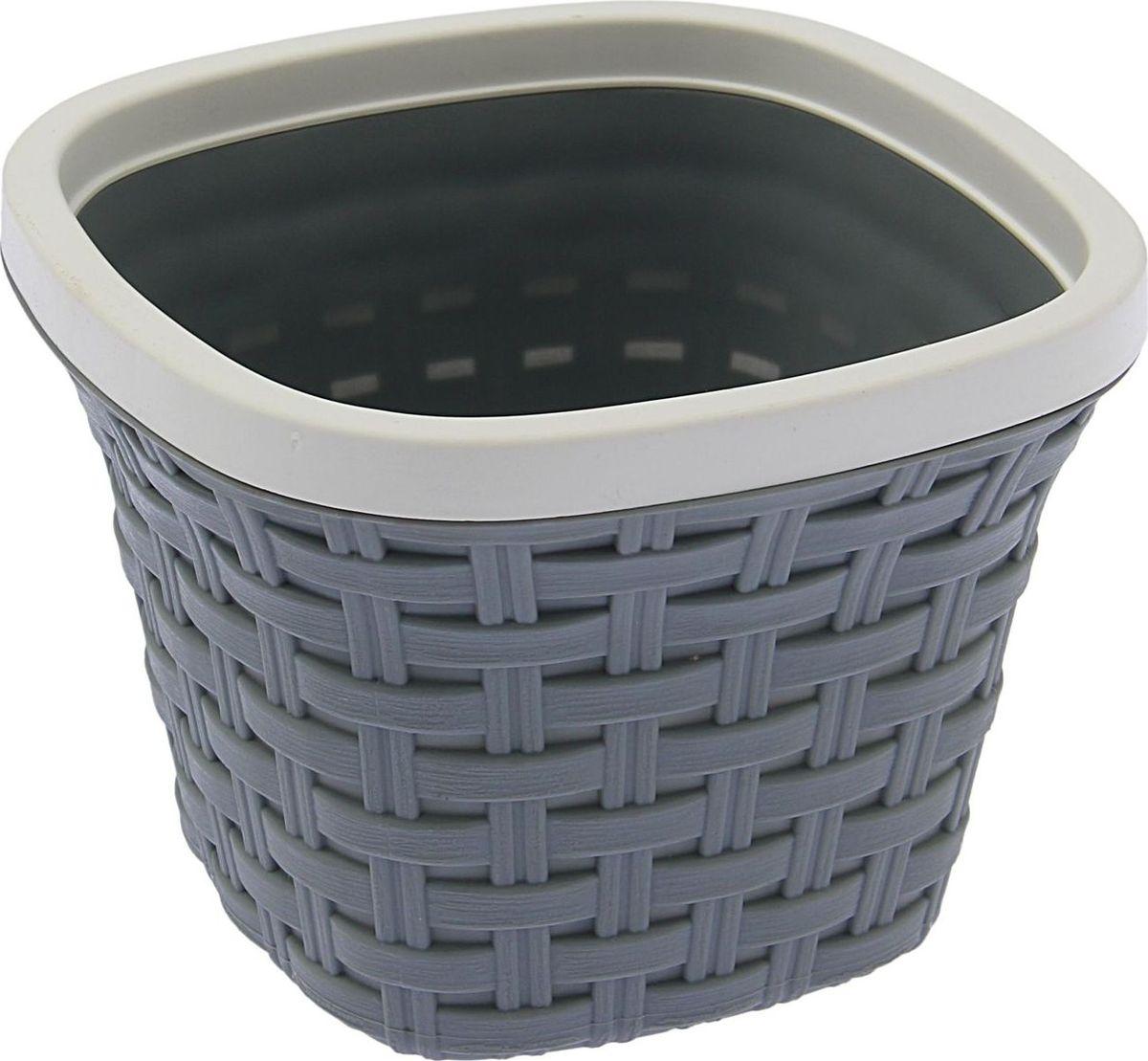 Кашпо квадратное Violet Ротанг, с дренажной системой, цвет: серый, 1,3 л33130/8Квадратное кашпо Violet Ротанг изготовлено из высококачественного пластика и оснащено дренажной системой для быстрого отведения избытка воды при поливе. Изделие прекрасно подходит для выращивания растений и цветов в домашних условиях. Объем: 1,3 л.