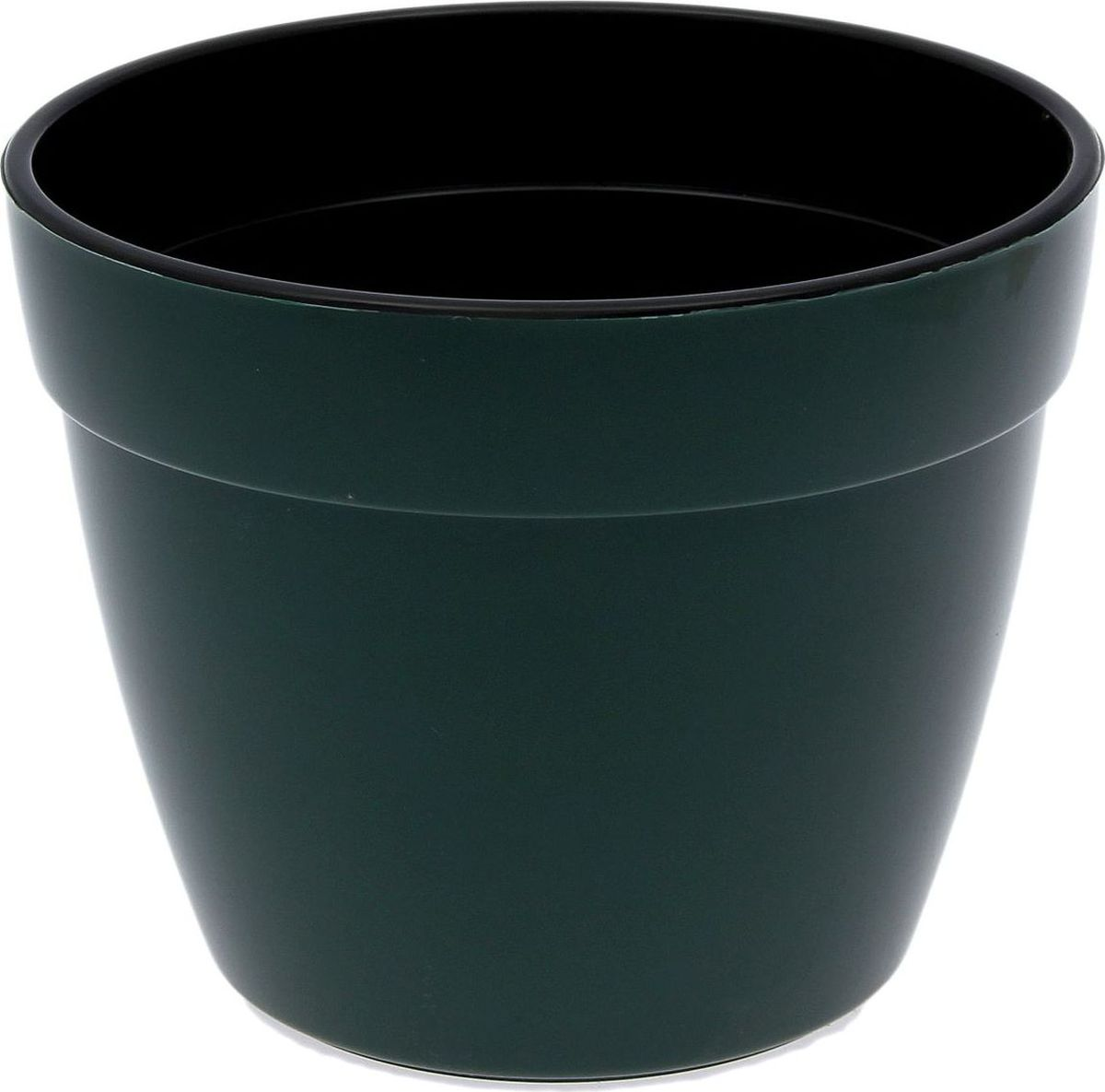 """Горшок для цветов Santino """"Асти"""", цвет: зеленый, черный, 6 л"""