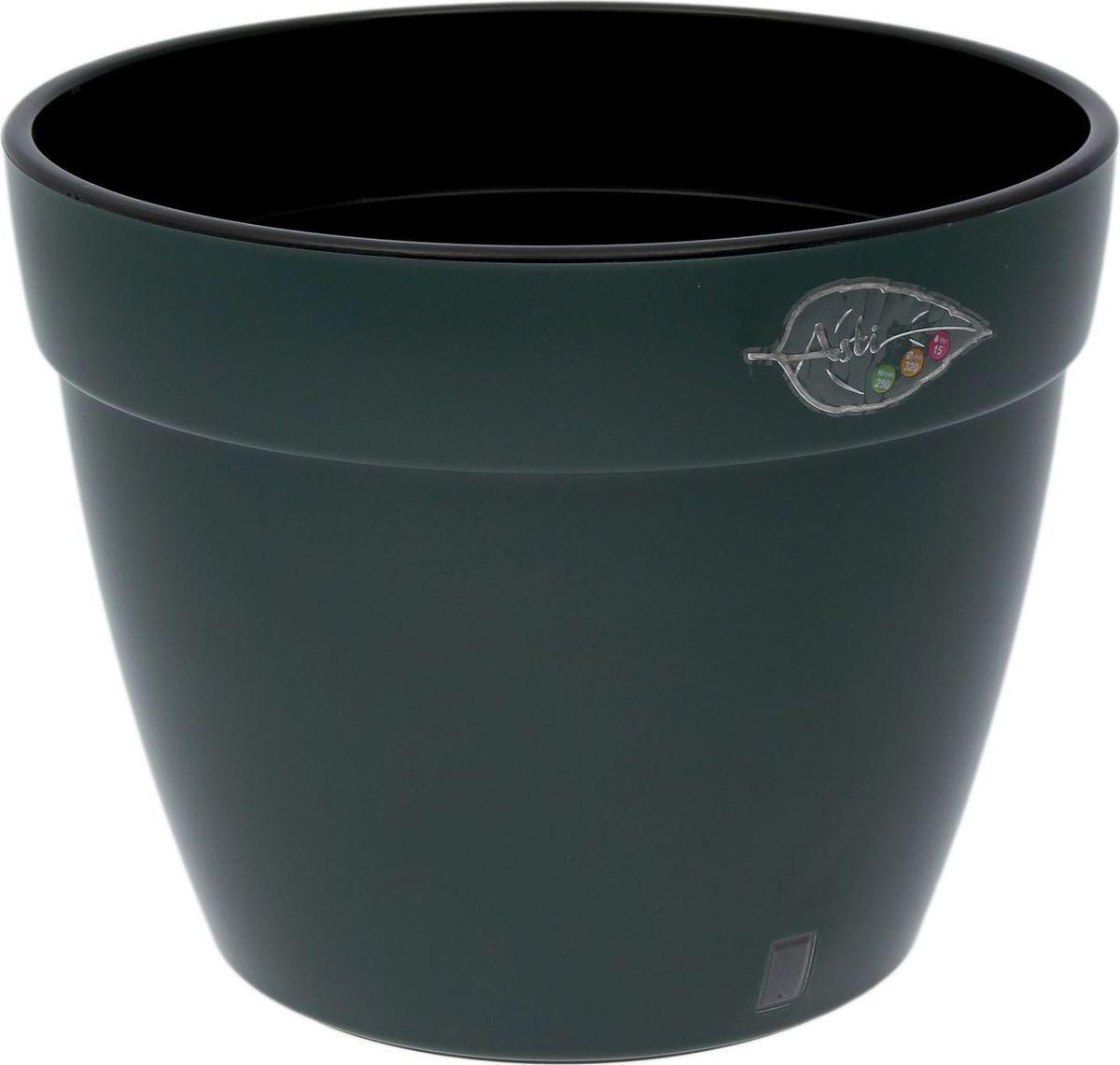 Горшок для цветов Santino Асти, цвет: зеленый, черный, 9 л4840952005328Любой, даже самый современный и продуманный интерьер будет незавершённым без растений. Они не только очищают воздух и насыщают его кислородом, но и украшают окружающее пространство. Такому полезному члену семьи просто необходим красивый и функциональный дом! Мы предлагаем #name#! Оптимальный выбор материала — пластмасса! Почему мы так считаем?Малый вес. С лёгкостью переносите горшки и кашпо с места на место, ставьте их на столики или полки, не беспокоясь о нагрузке. Простота ухода. Кашпо не нуждается в специальных условиях хранения. Его легко чистить — достаточно просто сполоснуть тёплой водой. Никаких потёртостей. Такие кашпо не царапают и не загрязняют поверхности, на которых стоят. Пластик дольше хранит влагу, а значит, растение реже нуждается в поливе. Пластмасса не пропускает воздух — корневой системе растения не грозят резкие перепады температур. Огромный выбор форм, декора и расцветок — вы без труда найдёте что-то, что идеально впишется в уже существующий интерьер. Соблюдая нехитрые правила ухода, вы можете заметно продлить срок службы горшков и кашпо из пластика:всегда учитывайте размер кроны и корневой системы (при разрастании большое растение способно повредить маленький горшок)берегите изделие от воздействия прямых солнечных лучей, чтобы горшки не выцветалидержите кашпо из пластика подальше от нагревающихся поверхностей. Создавайте прекрасные цветочные композиции, выращивайте рассаду или необычные растения.