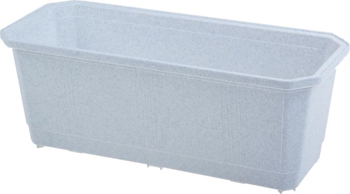 "Ящик балконный ""InGreen"", цвет: мраморный, 40 х 17 х 15 см. ING1801МР"