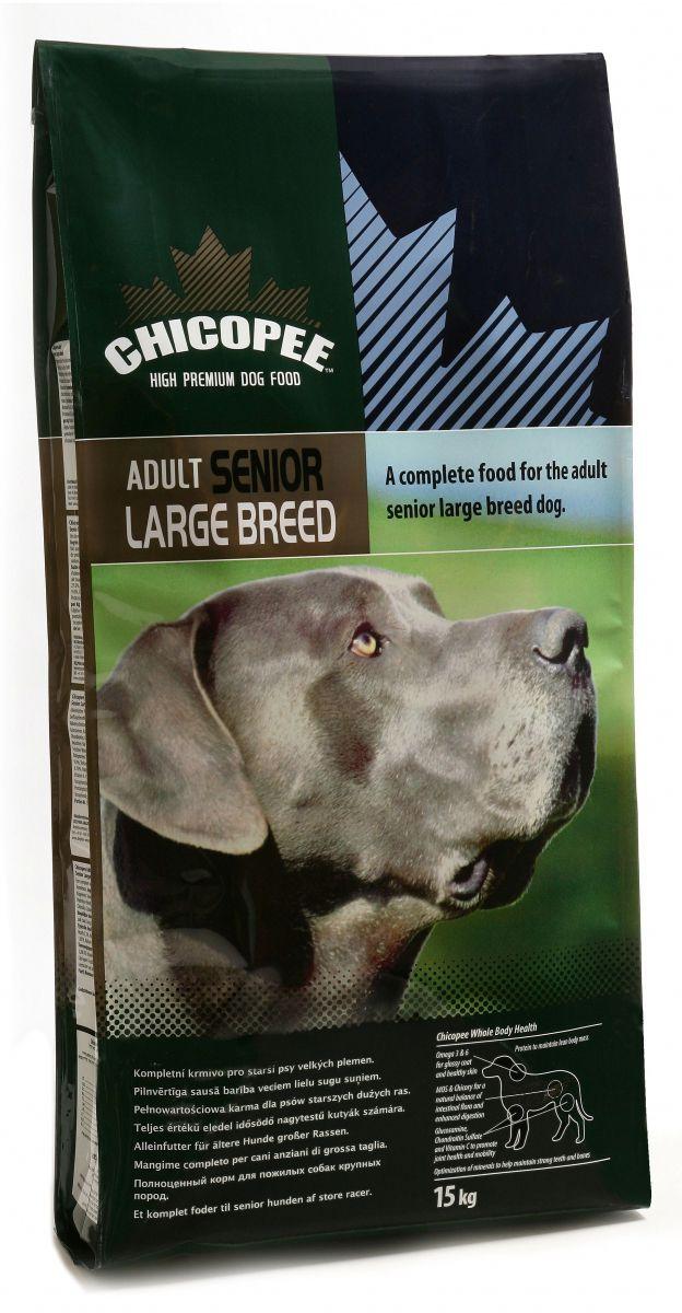 Корм сухой Chicopee для взрослых и пожилых собак крупных пород, с курицей, 15 кг пудовъ мука ржаная обдирная 1 кг