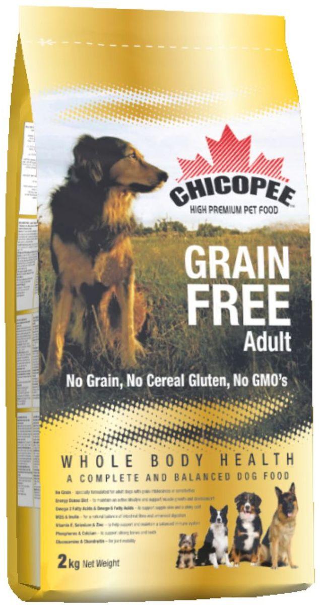 Корм сухой Chicopee для взрослых собак с пищевой аллергией или слабым пищеварительным трактом, беззерновой, 2 кг5569002Собака, страдающая пищевой аллергией или слабым пищеварительным трактом, нуждается в полноценном и сбалансированном питании, не содержащим аллергена - вещества, которое вызывает неприятные симптомы болезни. Именно в таких случаях, для собак идеально подойдет беззерновой корм Chicopee.Как следует из названия, беззерновой корм для собак всех пород не содержит злаков, но имеет в своем составе альтернативный источник углеводов - сушёный горох и картофель. Таким образом, исключенный из рациона продукт, вызывающий аллергию или сложности с пищеварением, восполняется ингредиентом, равноценным по питательной ценности и пищевым качествам.Главные преимущества беззернового рациона Chicopee:Отсутствие глютена (протеина, содержащегося в злаках), который разрушает ворсинки в тонком кишечнике собаки, приводя к недостаточному впитываю питательных веществ.Сушеный горох и пульпа сахарной свеклы, содержащиеся в корме, являются полноценными источниками растительного белка, а также богаты пищевыми волокнами, витаминами и минеральными веществами, улучшающими работу ЖКТ.Значительное содержание животных белков обеспечивает длительное чувство сытости у собаки и поддержание ее физической формы за счет увеличения мышечной массы и усиления защитных функций организма.Маннановые олигосахариды и инулин улучшают баланс кишечной микрофлоры и всасываемости питательных веществ, в результате нормализуется работа всей пищеварительной системы.Так же благодаря пивным дрожжам и рыбьему жиру улучшается состояние кожи животного, восстанавливается его шерстный покров, волосы при этом становятся более крепкими и блестящими.Ингредиенты: мука из мяса домашней птицы, картофельная мука, сушеный горох, жир домашней птицы, свекловичный жом, яичный порошок, рыбная мука, гидролизат белка, рыбий жир, сухие дрожжи, поваренная соль, корень цикория (инулин 0,10%), дрожжевой экстракт (МОS 0,10%), глюкозами