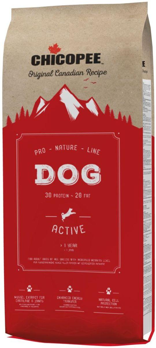 Корм сухой Chicopee Pro Nature для взрослых повышенно активных собак, 20 кг5860320Корм сухой Chicopee Pro Nature - полноценное питание для взрослых повышенно активных собак.Основные преимущества: - Естественная защита клеток организма. Важные природные антиоксиданты, такие как витамин Е, и особые микроэлементы, такие как селен, защищают клетки организма и блокируют действие свободных радикалов, защищая содержимое клетки от разрушения. Это не только улучшает функционирование тканей и органов, но и является отличнейшей профилактикой старения организма. - Оптимальный уровень энергии. Повышенное содержание легкоусвояемых белков и высококачественных жиров обеспечивают оптимальное развитие щенка. - Сбалансированный источник питательных веществ. Сбалансированный состав кормов обеспечивает оптимальный запас в них питательных веществ, что позволяет снизить количество дневной нормы кормления и уменьшить нагрузку на желудочно-кишечный тракт. - Гигиена полости рта. Размер и структура гранул рационов стимулируют их тщательное пережевывание. Это позволяет в процессе приема пищи удалять налет с зубов и десен животного. - Усиленный энергообмен. Повышенное содержание жира обеспечивает оптимальное количество энергии в концентрированной и легкоусвояемой форме, что особенно важно для собак с особыми потребностями. - Оптимальные источники белка. Высокое качество и хорошая усвояемость белков (например, мясо домашней птицы) обеспечивают организм аминокислотами, которые необходимы для правильного мышечного развития. - Потрясающий блеск шерсти. Наличие в рационах высококачественных белков и экстракта пивных дрожжей обеспечивают блеск шерсти и здоровье кожи.Ингредиенты: мясная мука с протеином из мяса домашней птицы (дегидрированный), пшеница, животный жир, кукуруза, просеянные пшеничные отруби, ячмень, рис, свекольная пульпа (без сахара), рыбная мука, дрожжи (сушеные), горох (сушеный), гидролизованный протеин, поваренная соль, хлорид калия.Анализ компонентов: протеин 30%, содержание жира 20