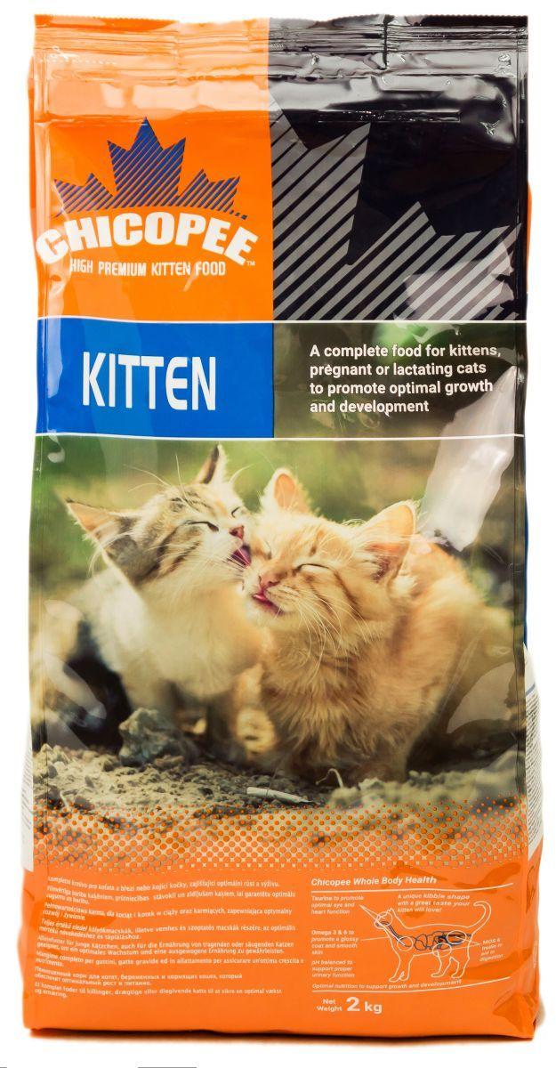 Корм сухой Chicopee для котят и беременных кошек, с курицей, 2 кг пудовъ мука ржаная обдирная 1 кг