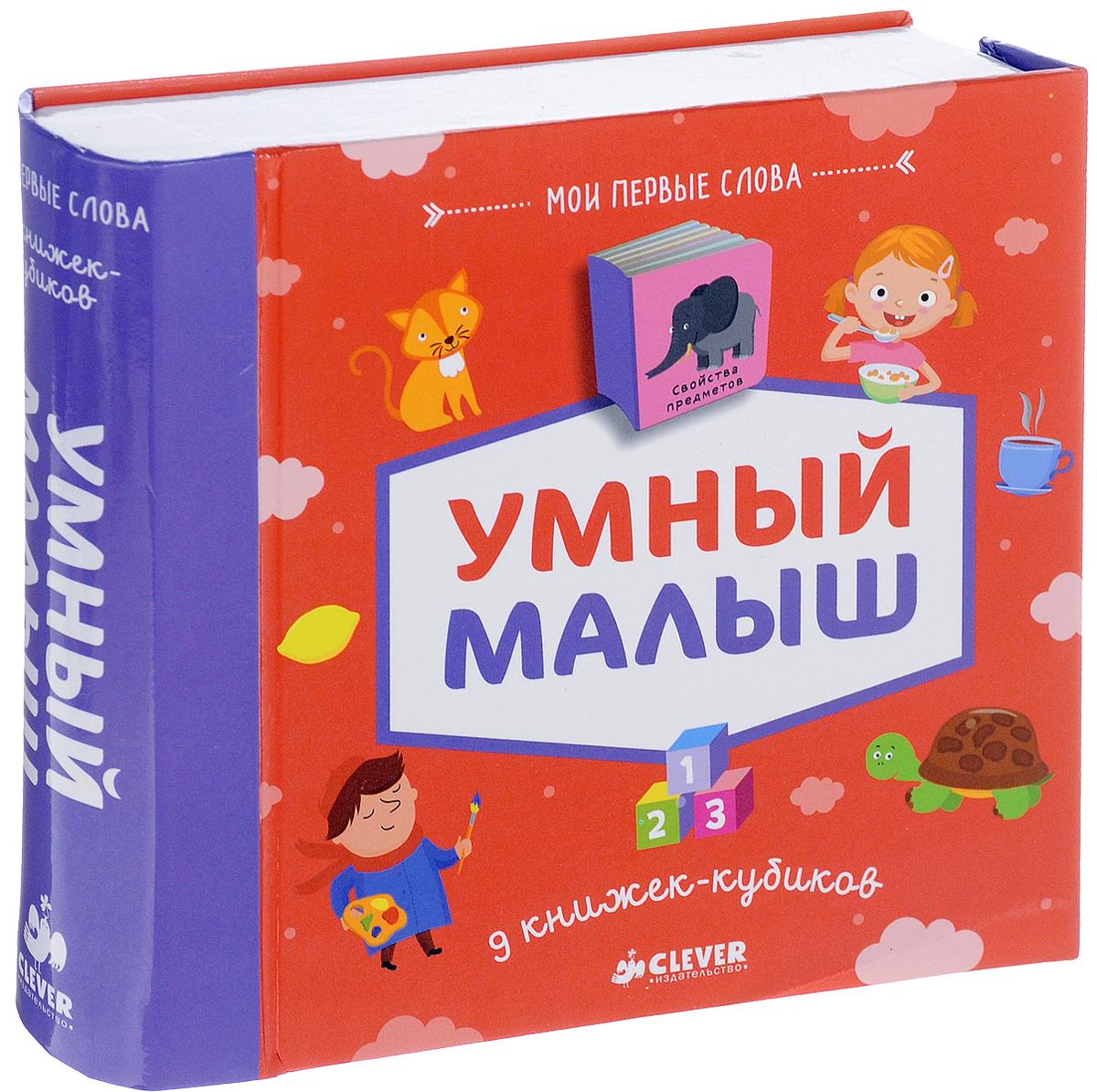 Умный малыш. 9 книжек кубиков