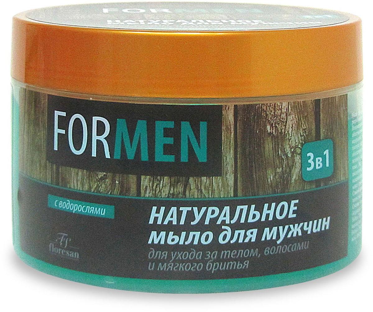 Floresan For Men Натуральное мыло для мужчин для ухода за телом и волосами и мягкого бритья 3в1, 450 мл66-Ф-0-40Floresan FOR MEN Натуральное мыло для мужчин для ухода за телом и волосами и мягкого бритья 3в1 450 мл — это уникальная философия ухода за телом и волосами и мягкого бритья, разработанная для успешных мужчин, которые выбирают продукты только высочайшего уровня. Инновационная формула позволяет размывать традиционные границы между средствами, облегчающими бритье и ухаживающими за кожей и волосами. Нежное, содержащее экстракт морских водорослей, мыло можно использовать как шампунь, гель для душа и бритья. Мыло образует плотную пену с приятным освежающим ароматом. Защищает кожу, идеально смягчает щетину, обеспечивает легкое скольжение станка и абсолютный комфорт в течение всей процедуры. Экстракты зеленого чая, череды, календулы, ромашки и арники предупреждают раздражение и шелушение кожи. Экстракт ламинарии, обогащенный полисахаридами и микроэлементами, насыщает кожу кислородом, восстанавливает минеральный и водный баланс. Ментол оказывает тонизирующее и освежающее действие. Мыло полностью соответствует духу времени в уходе за мужской кожей и может применяться ежедневно.