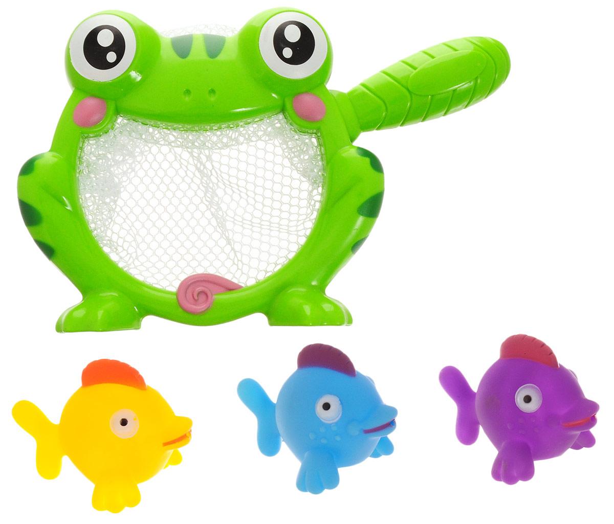 ABtoys Игрушка для ванной Сачок с игрушками вид 1 игрушки для ванны brasco игрушка для ванной крабик с друзьями