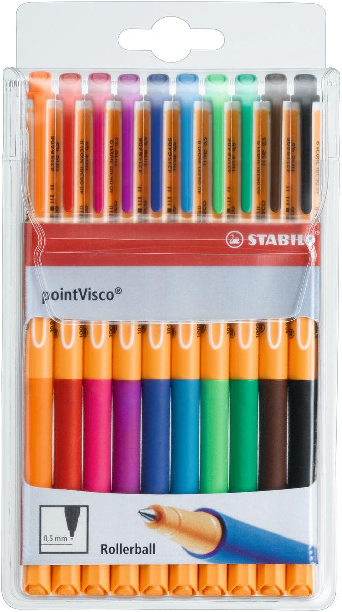Stabilo Набор гелевых ручек Point Visco 10 цветов 1099/10 - Письменные принадлежности - Ручки