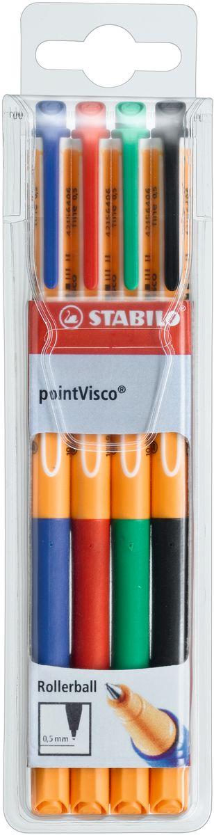 Stabilo Набор гелевых ручек Point Visco 4 цвета hao yue style набор гелевых ручек 4 цвета