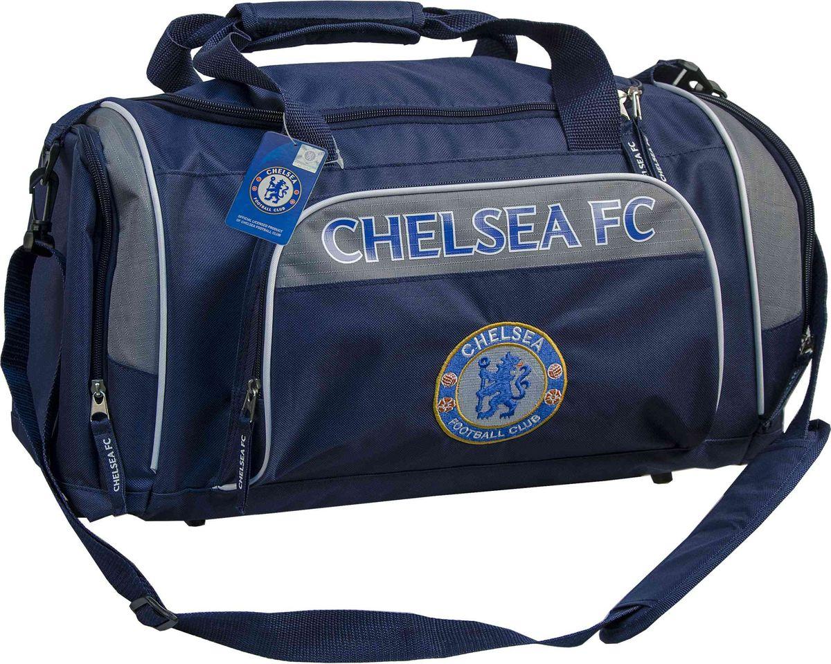 Сумка спортивная Atributika & Club  Chelsea , цвет: синий, серый, 35 л. 09106 - Футбольные клубы