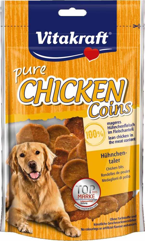 Лакомство Vitakraft, для собак, медальоны куриные, 80 г корм для птиц vitakraft menu vital для волнистых попугаев основной 1кг