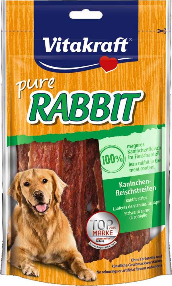 Лакомство для собак Vitakraft, соломка из крольчатины, 80 г корм для птиц vitakraft menu vital для волнистых попугаев основной 1кг