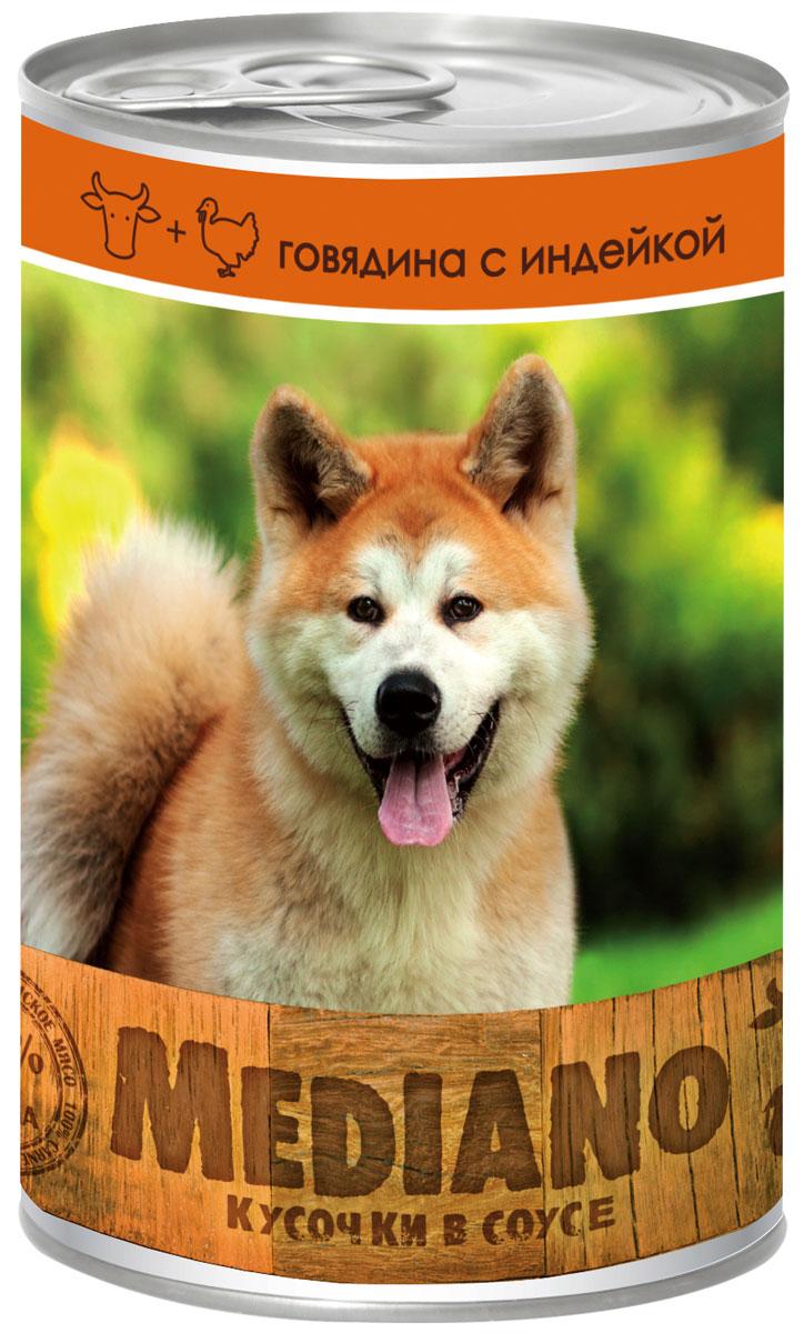 Консервы Vita Pro Mediano, для собак, с говядиной и индейкой, 405 г751641493Консервы Vita Pro Mediano - полнорационный корм для средних пород собак в виде мясных кусочков в соусе. Не содержит ГМО, усилителей вкуса, ароматизаторов и красителей.Состав: мясо и мясные субпродукты (говядина 4%, индейка 4%), злаки, овощи 4%, яйца и яичные субпродукты, минералы, сахара.Товар сертифицирован.