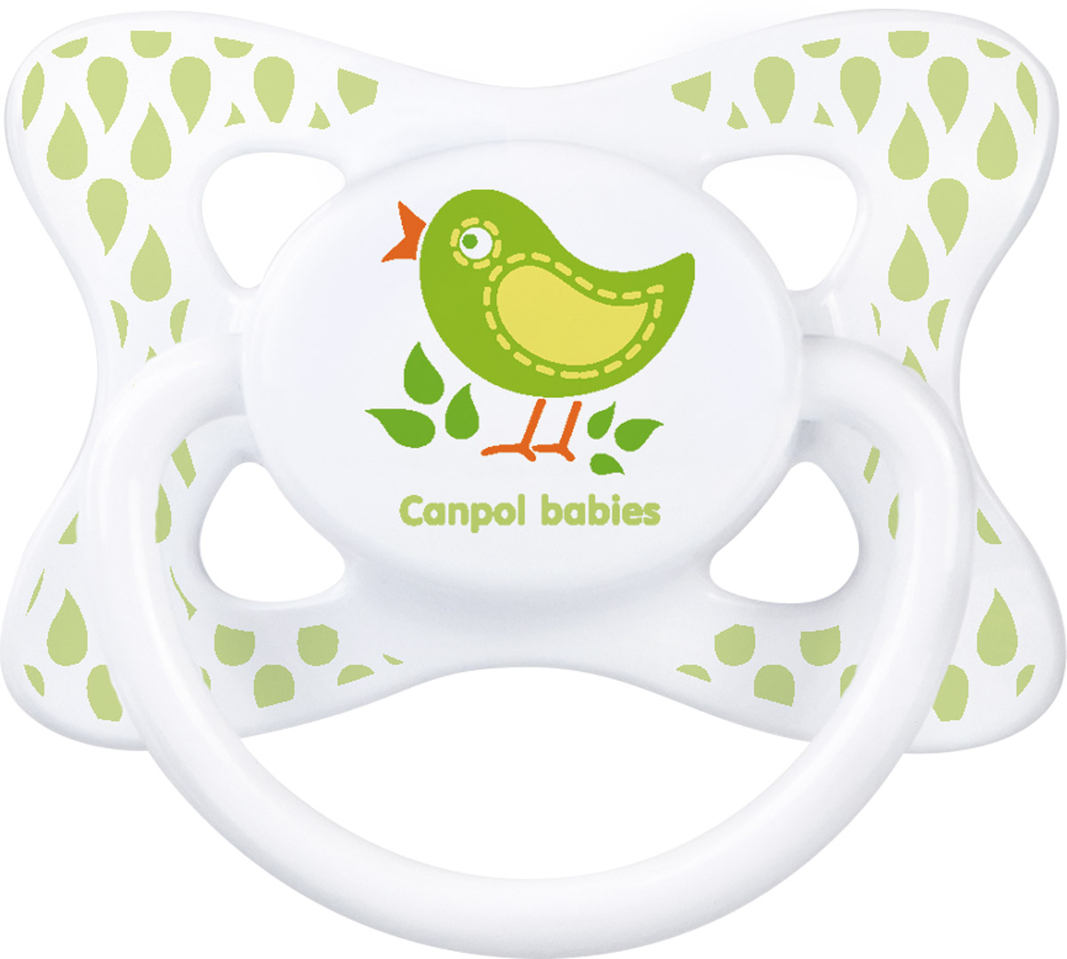 Canpol Babies Пустышка латексная Птичка от 6 до 18 месяцев пустышки canpol латексная волшебная сказка 0 6 мес 22 603