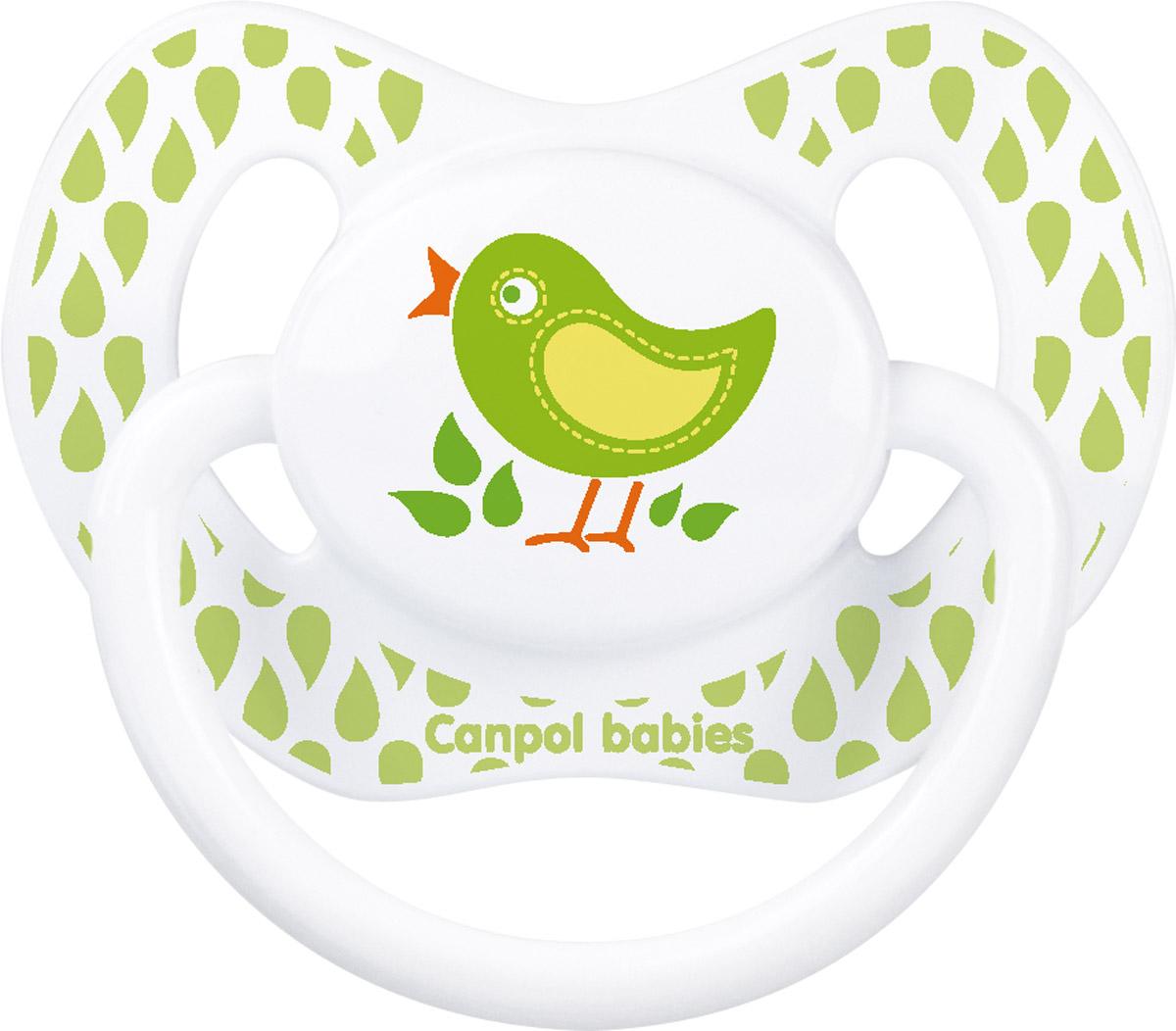 Canpol Babies Пустышка силиконовая ортодонтическая Птичка от 18 месяцев пустышки canpol силиконовая ортодонтическая 6 18 мес 22 501