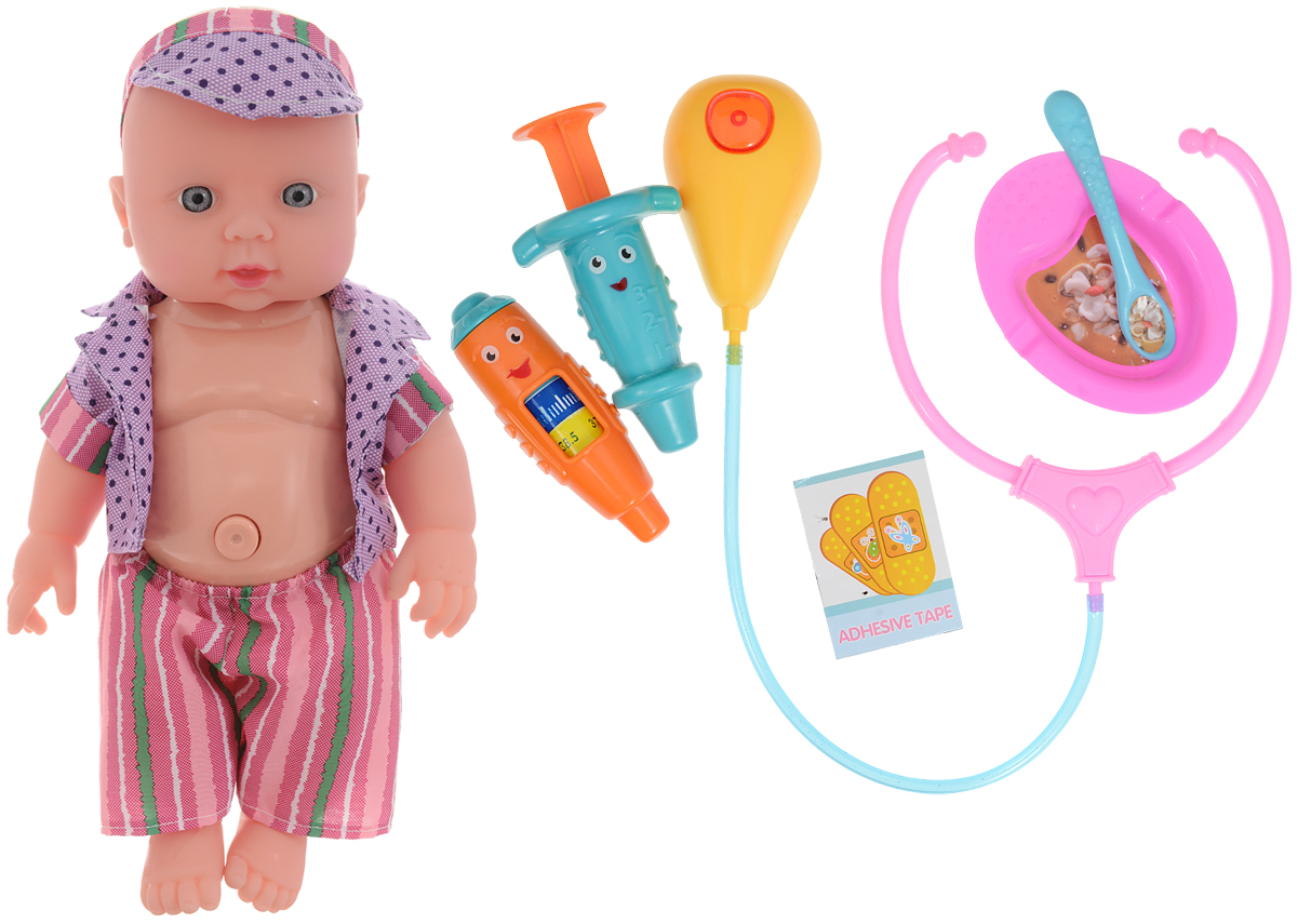 Город игр Пупс озвученный Baby MayMay Доктор цвет одежды фиолетовый розовый кукла город игр baby maymay gi 6423