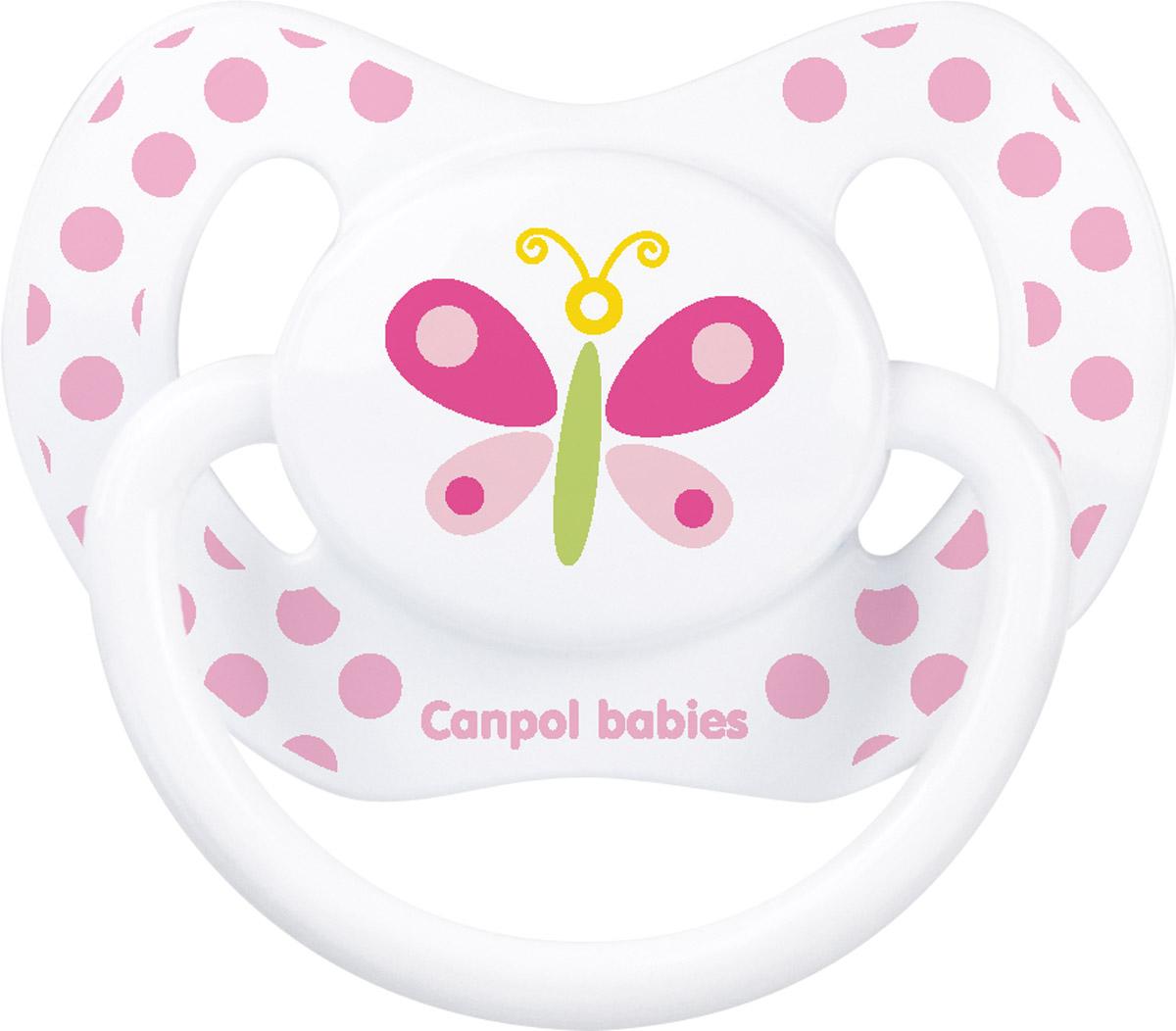 Canpol Babies Пустышка силиконовая ортодонтическая Бабочка от 18 месяцев пустышки canpol силиконовая ортодонтическая 6 18 мес 22 501