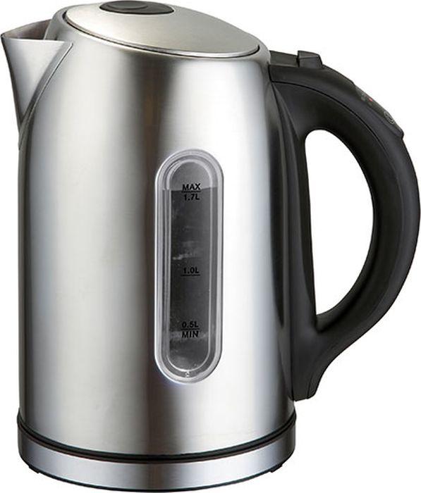 Gemlux GL-EK-203S чайник электрическийGL-EK-203SЭлектрический чайник Gemlux GL-EK-203S превратит ваши семейные чаепития в настоящий праздник. Вместительная колба объемом 1,7 л идеально подходит для семьи из трех-четырех человек. Устройство изготовлено из прочной, экологичной и безопасной для здоровья нержавеющей стали, термоизолированная ручка - из черного пластика. Уровень воды в колбе легко контролировать благодаря большому мерному стеклу с яркой светодиодной подсветкой. Беспроводное соединение позволяет вращать чайник на подставке на 360°.Мощный закрытый ТЭН обеспечивает быстрое закипание воды, легко очищается от накипи и имеет длительный срок службы.Электрочайник оснащен терморегулятором, который позволяет максимально раскрывать вкус и аромат различных сортов чая, имеет функцию поддержания температуры в течение 2 часов, а также функцию автоотключения при закипании воды и защиты от сухого включения.Температура нагрева: 60-100°С.