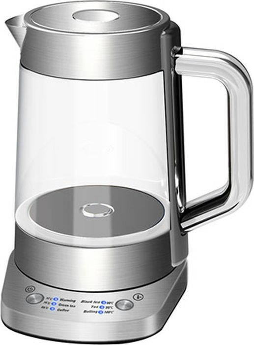 Gemlux GL-EK-302G чайник электрическийGL-EK-302GЭлектрический чайник Gemlux GL-EK-302G объемом 1,5 л идеально подходит для семьи из трех-четырех человек. Колба чайника изготовлена из экологичного и безопасного для здоровья прозрачного стекла, основание - из нержавеющей стали.Мощный закрытый ТЭН обеспечивает быстрое закипание воды, легко очищается от накипи и имеет длительный срок службы.Электрочайник оснащен терморегулятором, который позволяет максимально раскрывать вкус и аромат различных сортов чая, имеет функцию поддержания температуры в течение 30 минут, а также функцию автоотключения при закипании воды и защиты от сухого включения.Температура нагрева: 70-100°С.Вращение на платформе 360°.