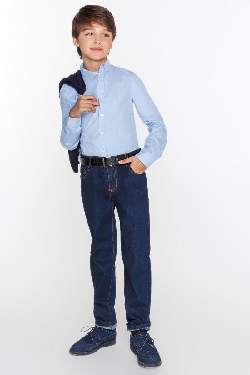 Джинсы для мальчика Acoola Rook, цвет: синий. 20110160101_8600. Размер 15820110160101_8600Джинсы Acoola Rook классического кроя выполнены из плотного денима насыщенного оттенка с контрастной прострочкой. Модель с пятью карманами, регулируемой резинкой на талии, застежкой на молнию и пуговицу.