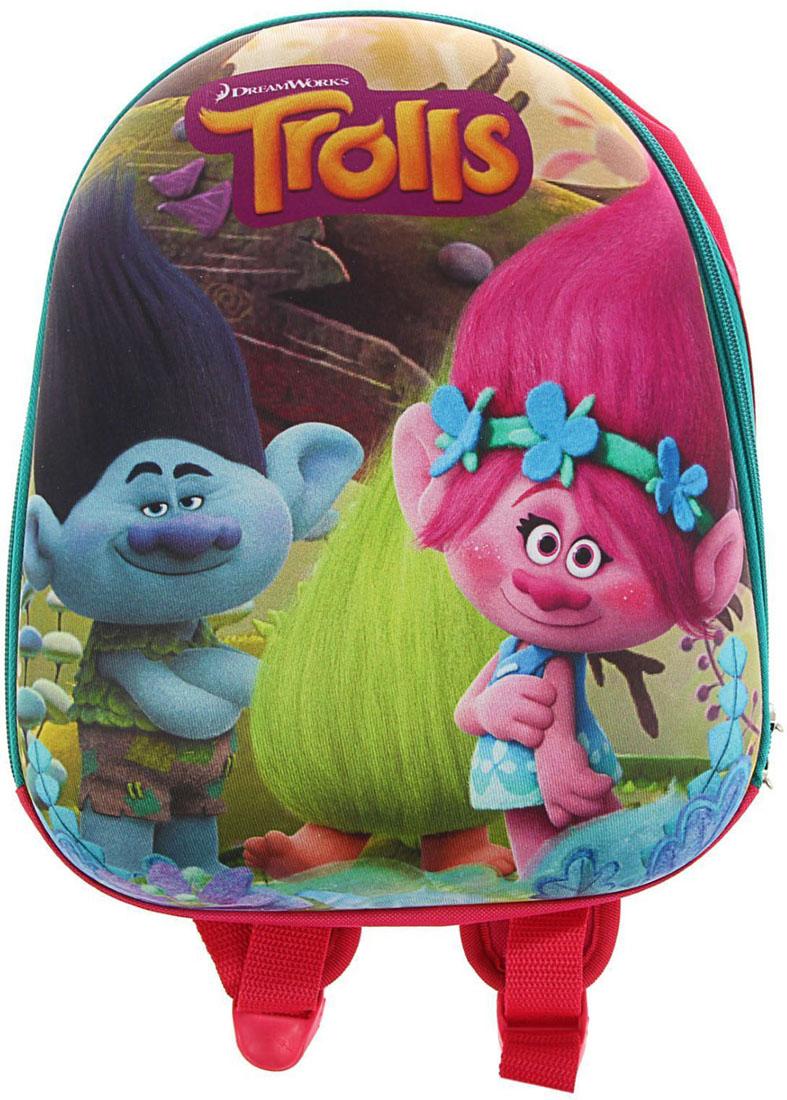 Trolls Рюкзак дошкольный 18008551800855Дошкольный рюкзак Trolls обязательно пригодится вашему ребенку! Он может взять его с собой на прогулку, в гости или в детский сад.Выполнен рюкзак из прочного материала, что позволяет служить ему долгое время. Содержит изделие одно отделение, закрывающееся на застежку-молнию.Рюкзак оснащен регулируемыми по длине плечевыми лямками и дополнен текстильной ручкой для переноски в руке.Рюкзак порадует глаз и подарит отличное настроение вашему ребенку, который будет с удовольствием носить в нем свои вещи или любимые игрушки.