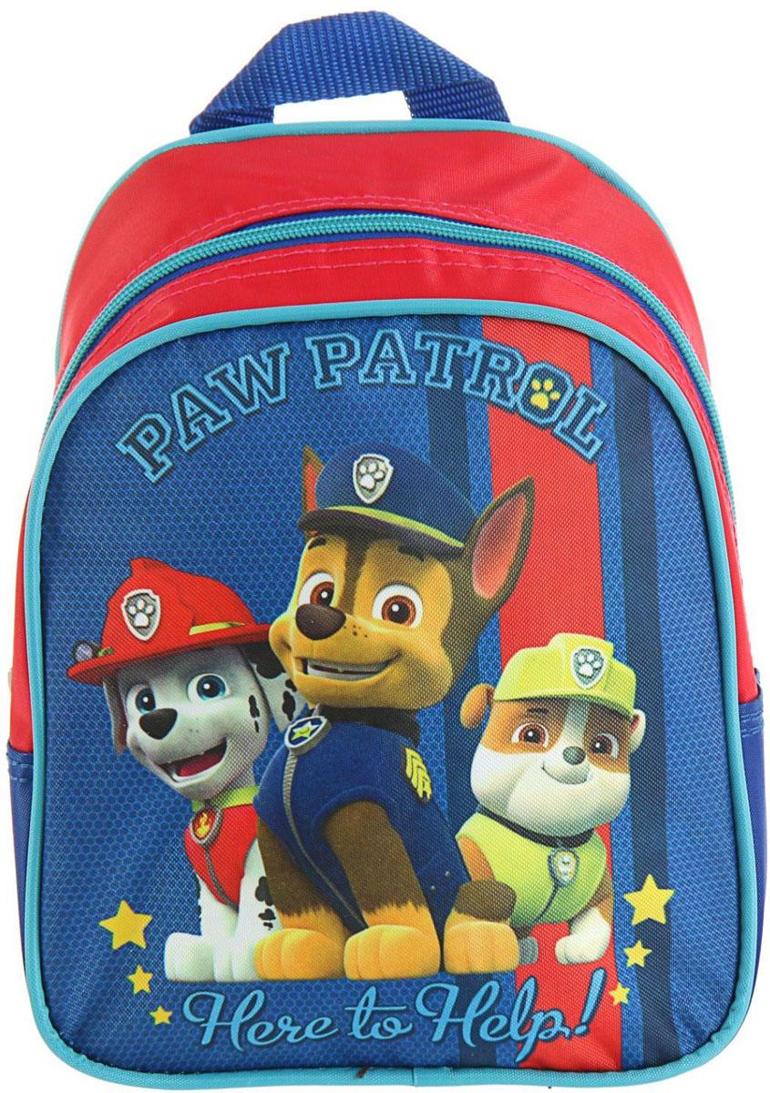 Paw Patrol Рюкзак детский Щенячий Патруль цвет синий красный2335969Детский рюкзак Paw Patrol имеет легкий вес, поэтому ребенку будет с ним очень удобно.Рюкзак содержит одно вместительное отделение на застежке-молнии. На лицевой стороне рюкзака изображен герои мультфильма Щенячий Патруль. Рюкзак также имеет петлю для подвешивания на крючок.Многофункциональный детский рюкзак станет незаменимым спутником вашего ребенка в жизни. В рюкзак можно положить как игрушки, так и спортивную форму.