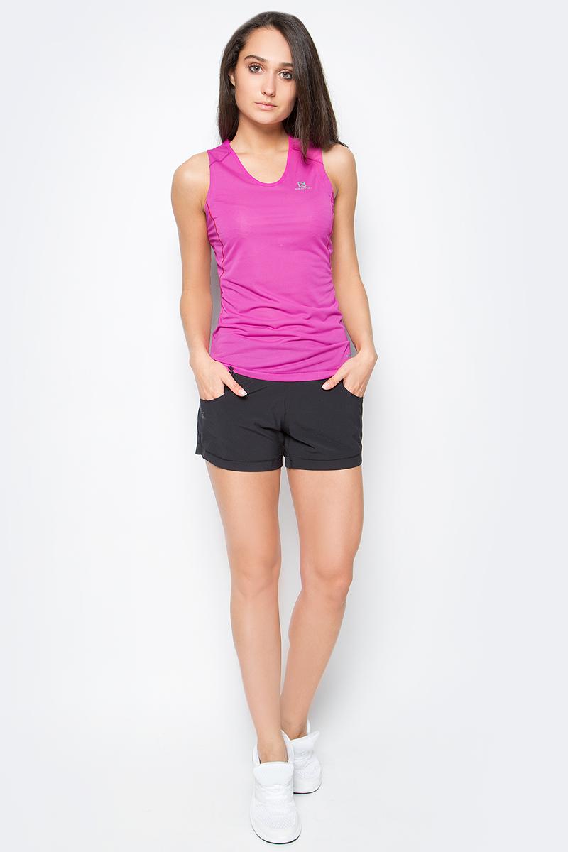 Майка для бега женская Salomon Trail Runner Sleeveless Tee, цвет: розовый. L39255600. Размер XS (36/38)L39255600Женская майка Salomon Trail Runner Sleeveless Tee обеспечивает полную свободу движений и вентиляцию, прекрасно сидит при надетом рюкзаке. Модель имеет круглый вырез горловины. Идеально подходит для занятий бегом или хайкинга в жаркую погоду.