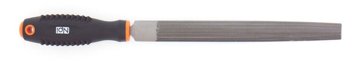 Напильник по металлу NPI HCS, полукруглый, с двухкомпонентной ручкой, 200 мм55122Полукруглый напильник по металлу NPI изготовлен из высокоуглеродистой стали которая на долго сохраняет остроту насечки. Напильник имеет тип насечки - личная и усиленное крепление ручки. Эргономичная двухкомпонентная рукоятка из ударопрочного пластика обеспечивает удобный и безопасный захват и предотвращает выскальзывание. Длина рабочей поверхности: 200 мм.