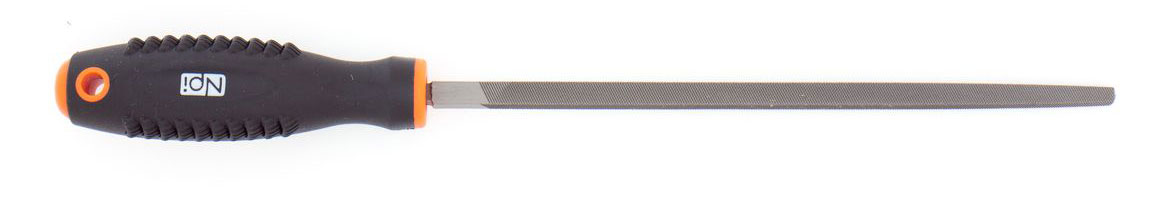 Напильник по металлу NPI HCS, квадратный, с двухкомпонентной ручкой, 200 мм ключ разводной npi crv 200 мм