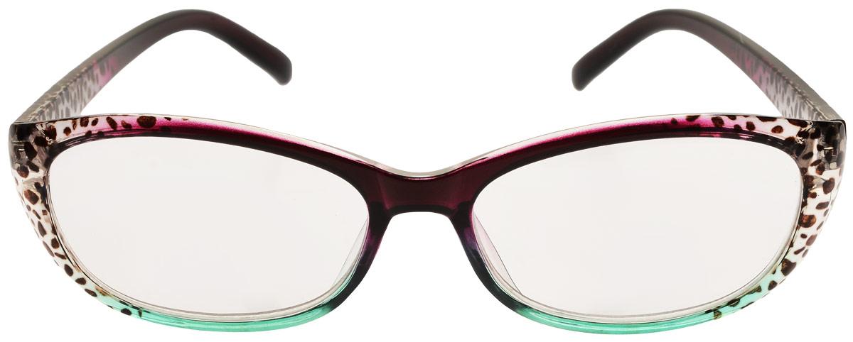 Proffi Home Очки корригирующие (для чтения) 729 Fabia Monti +2.00, цвет: ,бордовый,зеленый trudi очки корригирующие