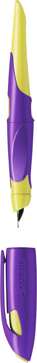 Stabilo Ручка перьевая Easybirdy цвет корпуса желтый фиолетовый цветной сургуч перо для письма купить в украине